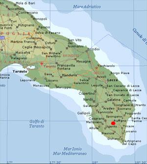 Cartina Puglia Noicattaro.Bed Breakfast Giardini Irlandesi Dove Siamo
